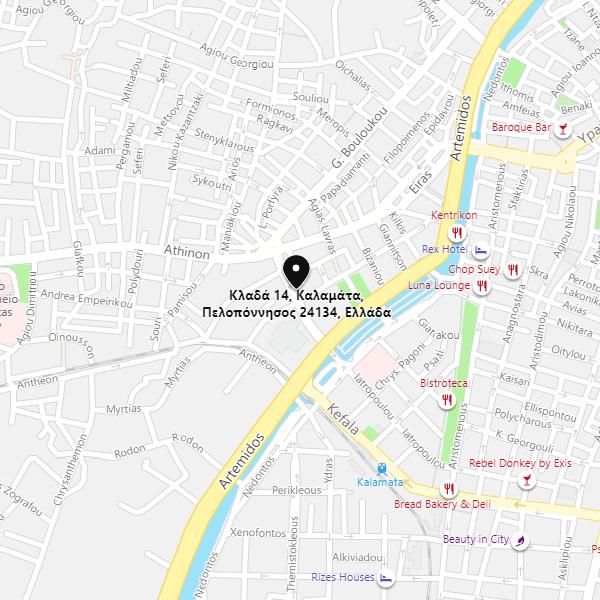 Χάρτης καταστήματος Καλαμάτας